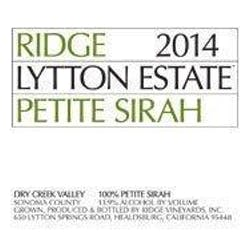 Ridge 'Lytton Estate' Petite Sirah 2015 image