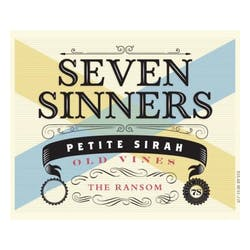 Seven Sinners 'The Ransom' Old Vine Petite Sirah 2015 image