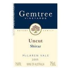 Gemtree Wines 'Uncut' Shiraz 2015 image
