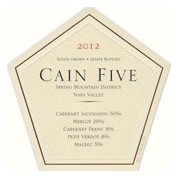 Cain Vineyard 'Cain Five' Red Blend 2012 image