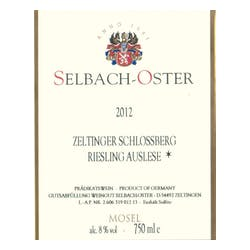 Selbach-Oster Auslese* Zeltinger Riesling 2015 image