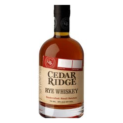 Cedar Ridge Rye Whiskey 750ml image