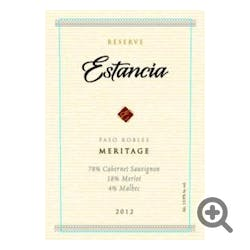Estancia Winery 'Reserve' Meritage 2014
