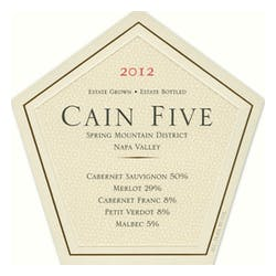 Cain Five Red Blend 2013 image