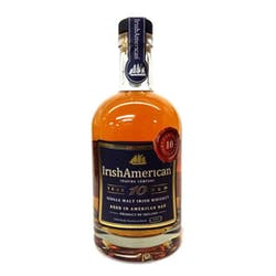 Irish American 10y Single Malt Irish Whiskey 750ml image