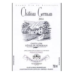 Chateau German Bordeaux Rouge 2014 image