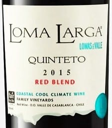 Loma Larga del Valle Quinteto Red Blend 2015