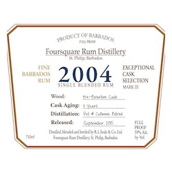 Foursquare Distillery 2004 Single Blended Rum Cask image