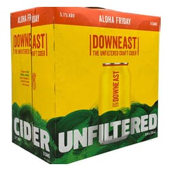 Downeast Cider 'Aloha Friday' 4-12oz Cans image
