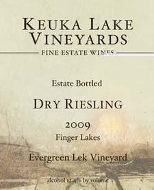 Keuka Lake Vineyards Dry Riesling 2016