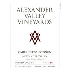 Alexander Valley Vineyards Cabernet Sauvignon 2016 image