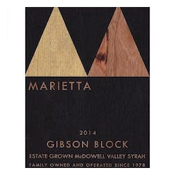 Marietta Cellars'Gibson Block' Syrah Single Vineyard 2015 image