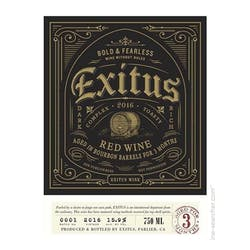 Exitus 'Bourbon Barrel' Red Blend 2016 image