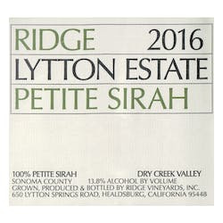 Ridge 'Lytton Estate' Petite Sirah 2016 image