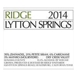 Ridge Vineyards Lytton Springs 2016 image
