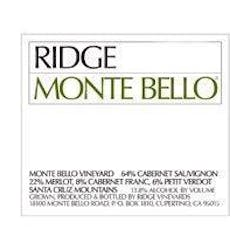 Ridge Vineyards 'Monte Bello' Cabernet Blend 2015