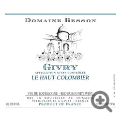 Besson Givry Le Haut Colombier 2016