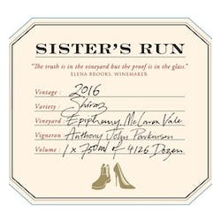 Sister's Run 'Epiphany' Shiraz 2016 image