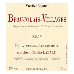 Lapalu Beaujolais-Villages VV 2017 image