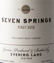 Evening Land 'Seven Springs Vineyard' Pinot Noir 2016
