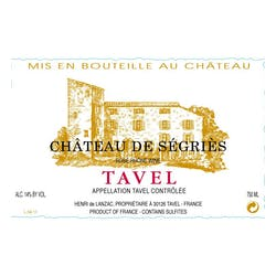 Chateau de Segries Tavel Rose 2018 image