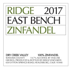 Ridge Vineyards 'East Bench' Zinfandel 2017 image