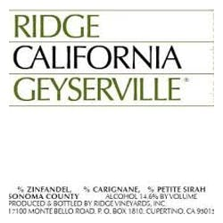 Ridge Vineyards 'Geyserville' Zinfandel 2017 image