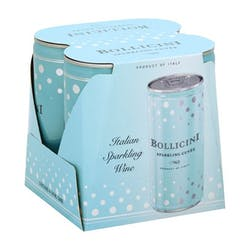 Bollicini Sparkling Cuvee 4-250ml Cans image