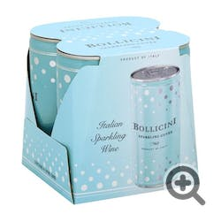 Bollicini Sparkling Cuvee 4-250ml Cans