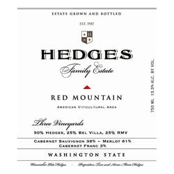 Hedges 'Red Mountain' Estate 2016 image