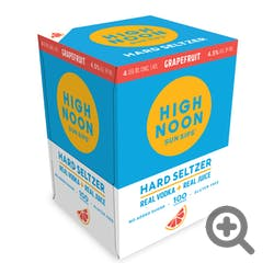 High Noon 'Grapefruit' Vodka and Soda 4-355ml Cans