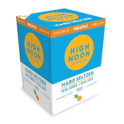 High Noon 'Pineapple' Vodka and Soda 4-355ml Cans image