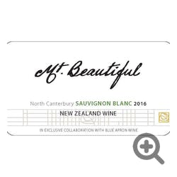 Mt Beautiful Sauvignon Blanc 2018