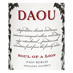 Daou 'Soul of A Lion' Bordeaux Blend 2016 image