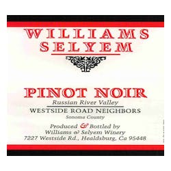 Williams Selyem 'Westside Road Neighbors' Pinot Noir 2017 image