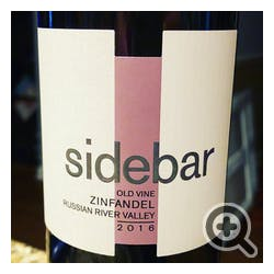 Sidebar Cellars by David Ramey Zinfandel 2016
