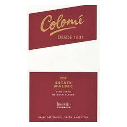 Bodega Colome 'Estate' Malbec 2016 image