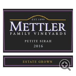 Mettler Family Vineyards Petite Sirah 2016