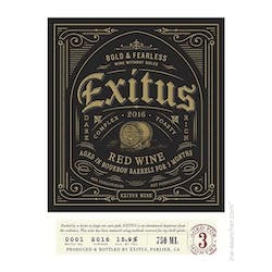Exitus 'Bourbon Barrel' Red Blend 2017 image