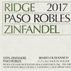 Ridge Vineyards 'Paso Robles' Zinfandel 2017