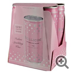 Bollicini Sparkling 'Rose' 4-250ml Cans