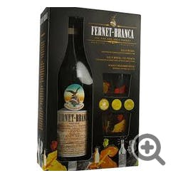 Fernet Branca w/2 Glass GIFT Liqueur 750ml