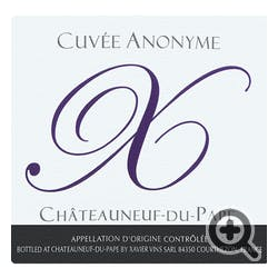 Xavier 'Cuvee Anonyme' Chateauneuf-du-Pape 2016