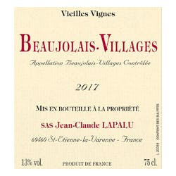 Lapalu Beaujolais-Villages VV 2018 image