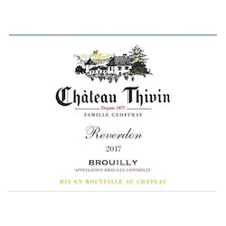 Chateau Thivin Brouilly 'Reverdon' 2017 image