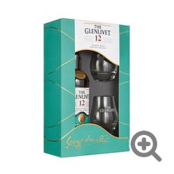 Glenlivet 12yr w/2 Glass Gift Set Single Malt 750ml