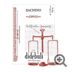 Tbilvino 'Dedebuli' Sachino Red 2018