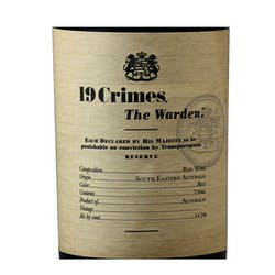 19 Crimes 'The Warden' Red Blend 2017 image