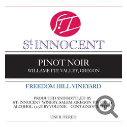 St Innocent 'Freedom Hill Vyd' Pinot Noir 2015