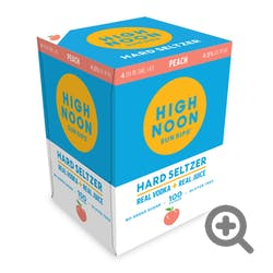 High Noon 'Peach' Vodka and Soda 4-355ml Cans